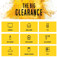 Argos discount clearance categories