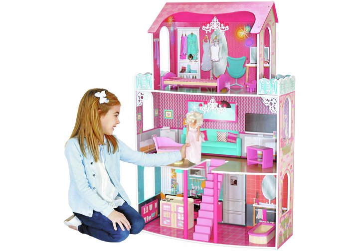 Chad Valley 3 Storey Glamour Mansion Dolls House
