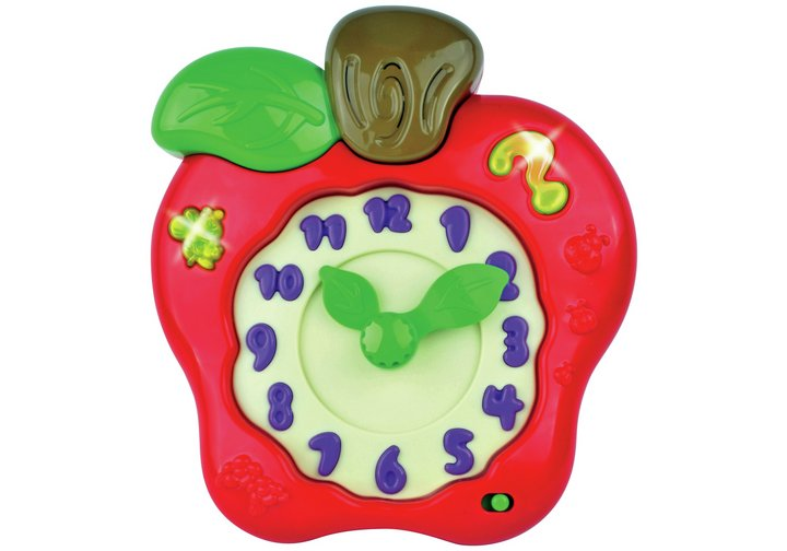 Chad Valley PlaySmart Learn to Tell the Time Apple Clock