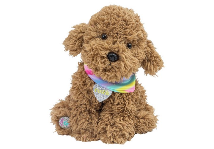 Chad Valley Bright Paws Cookie the Labradoodle Soft Toy