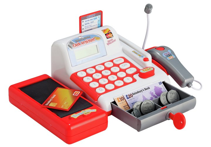 Chad Valley Cash Register with Accessories