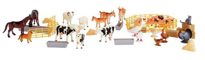 Chad Valley Farm Figures Bucket - 50 Piece