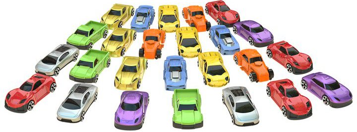 Chad Valley Die-Cast Cars - 25 Pack