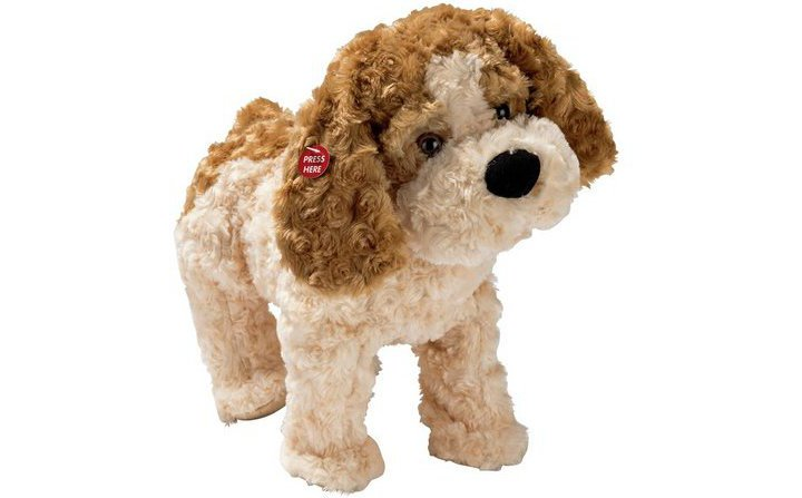 Chad Valley Fluffy Friends Brody Animated Dog Soft Toy
