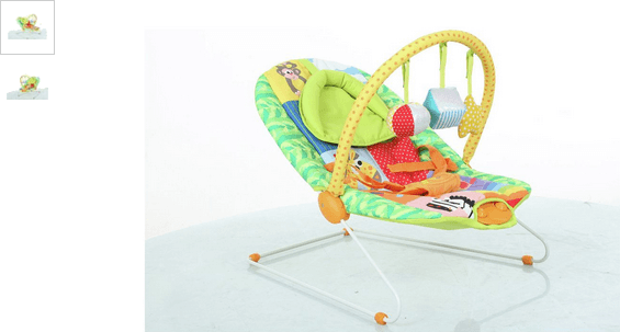 Baby by Chad Valley Deluxe Rainbow Bouncer