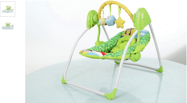 Baby by Chad Valley Deluxe Rainbow Swing