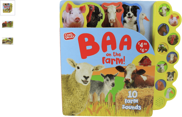 chad valley 10 button sound book baa