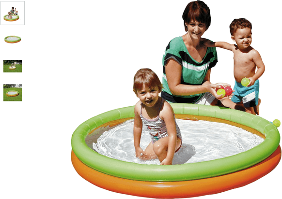 Chad Valley 2 Ring Paddling Pool - Multicoloured