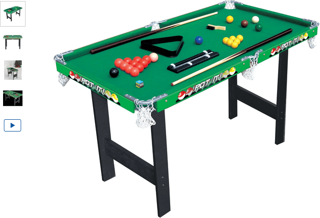 Chad Valley 3ft Snooker/Pool Game Table