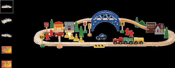 chad valley 60 piece train set