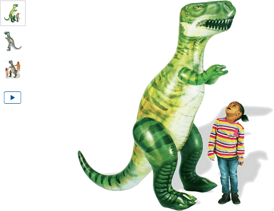 chad valley 6ft giant inflatable dinosaur