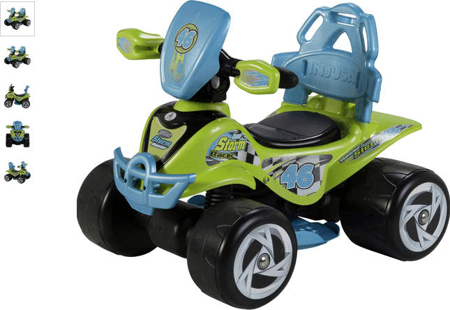 Chad Valley 6V Blue and Green Baby Quad Bike