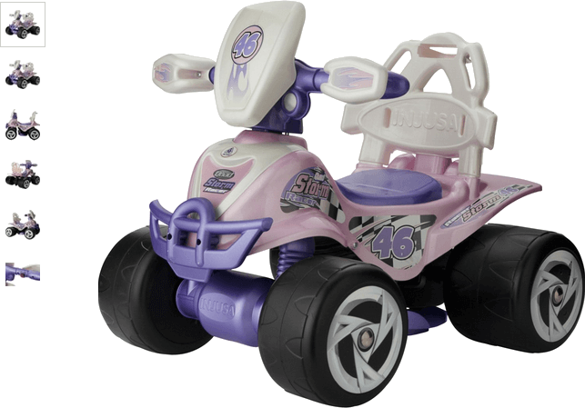 Chad Valley 6V Pink and Purple Baby Quad Bike