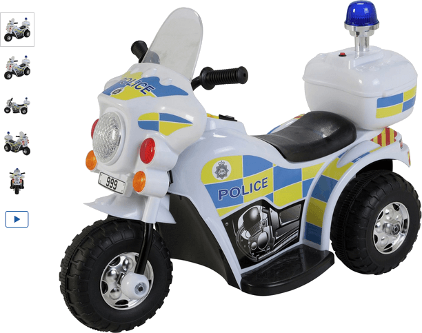 Chad Valley 6V Police Bike