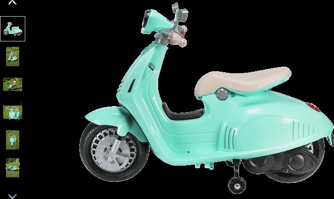 chad valley 6v vespa scooter