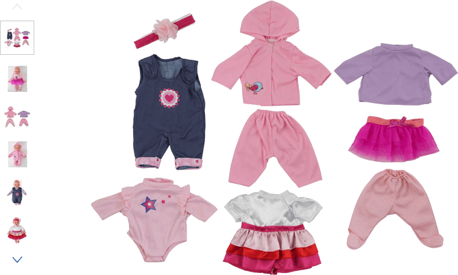 Chad Valley Babies to Love 4 Doll Outfits Set