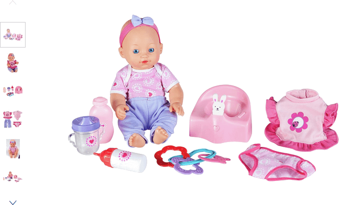 Chad Valley Babies to Love Interactive Doll and Potty Set