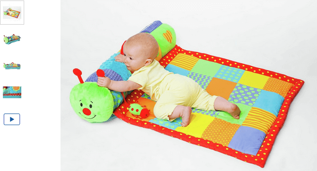 Chad Valley Baby Tummy Time Rollmat