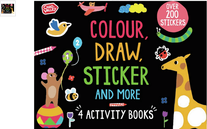 chad valley colour draw and stick activity pack