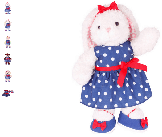 chad valley design-a-bear spotty dress outfit