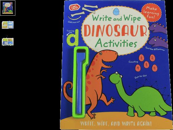 chad valley dinosaur write & wipe activity