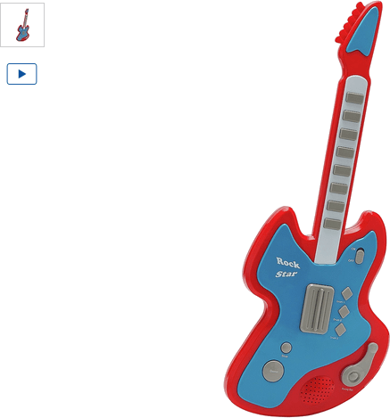 Chad Valley Electronic Toy Guitar - Red