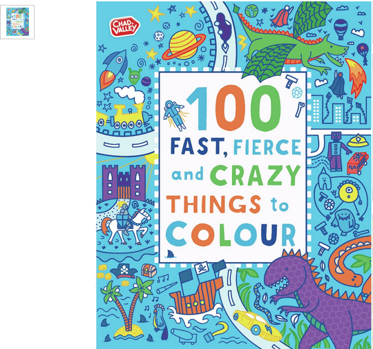 chad valley fast fierce crazy colouring book