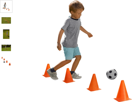 Chad Valley Football and Cones Set