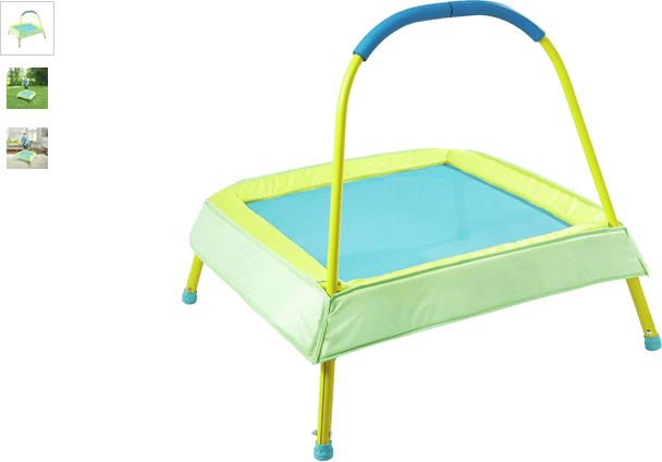 Chad Valley Green Junior Trampoline with Handle