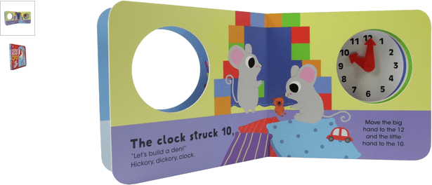 chad valley hickory dickory clock boardbook