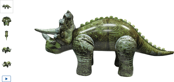 Chad Valley Inflatable Triceratops