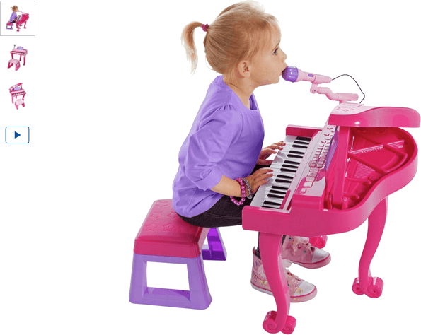Chad Valley Kids Pink Grand Piano