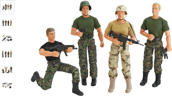 Chad Valley Military Action Figure Assortment
