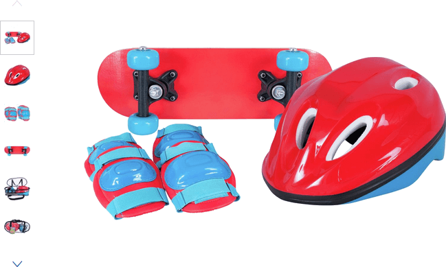 Chad Valley Mini Skateboard and Accessories