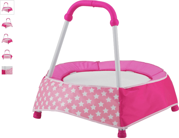 Chad Valley Pink Toddler Trampoline