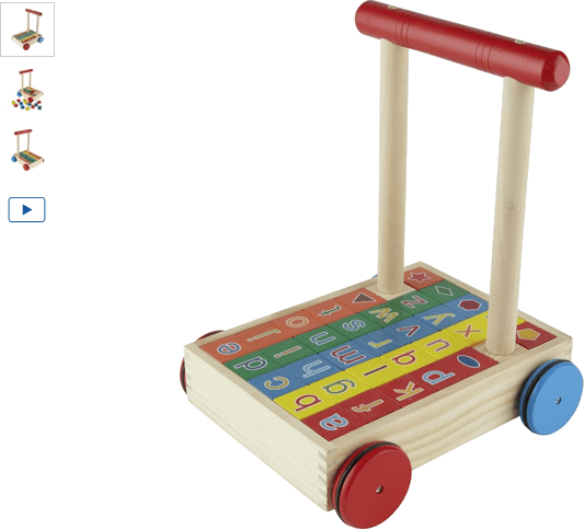 Chad Valley PlaySmart Wooden Alphabet Trolley