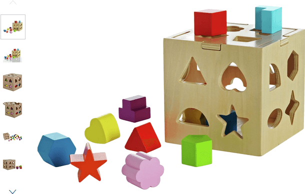 Chad Valley PlaySmart Wooden Shape Sorter