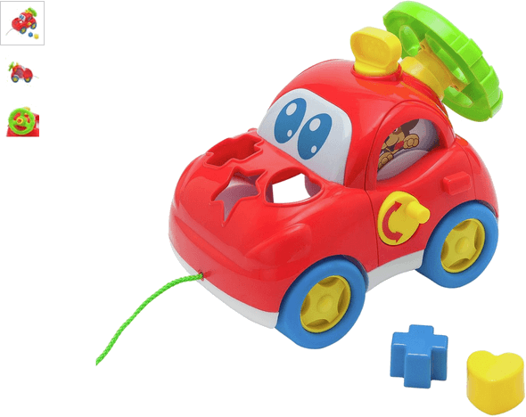 Chad Valley Pull and Sort Shape Sorter Car