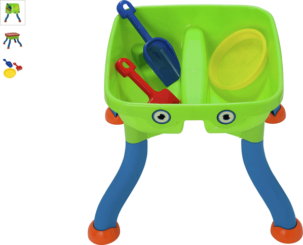 Chad Valley Sand and Water Table with Accessories