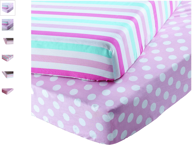 Chad Valley Stripe and Spot Fitted Sheets - Toddler