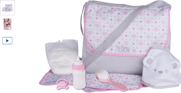 chad valley tiny treasures baby changing bag