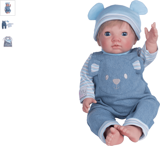 chad valley tiny treasures blue dungarees outfit