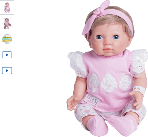chad valley tiny treasures newborn open eye girl doll