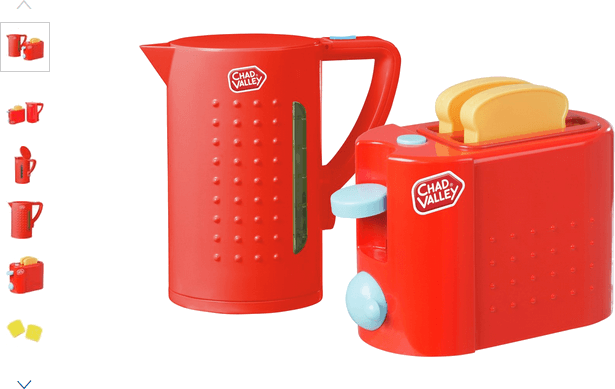 chad valley toaster and kettle set