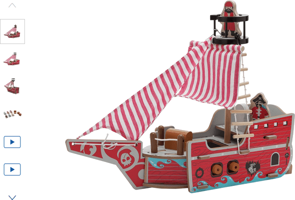 Chad Valley Wood Shed Pirate Ship
