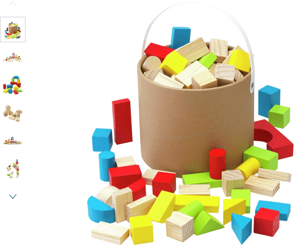 chad valley wooden 80 piece block set