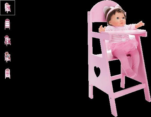 chad valley wooden dolls highchair