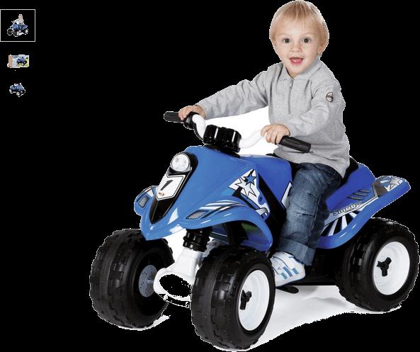 smoby electric quad bike - blue