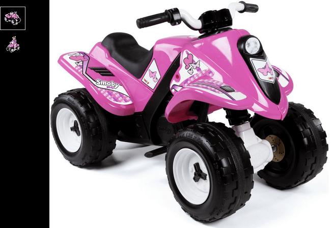 smoby electric quad  bike - rose