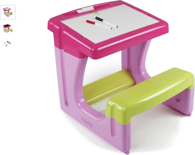 smoby little pupils desk - pink